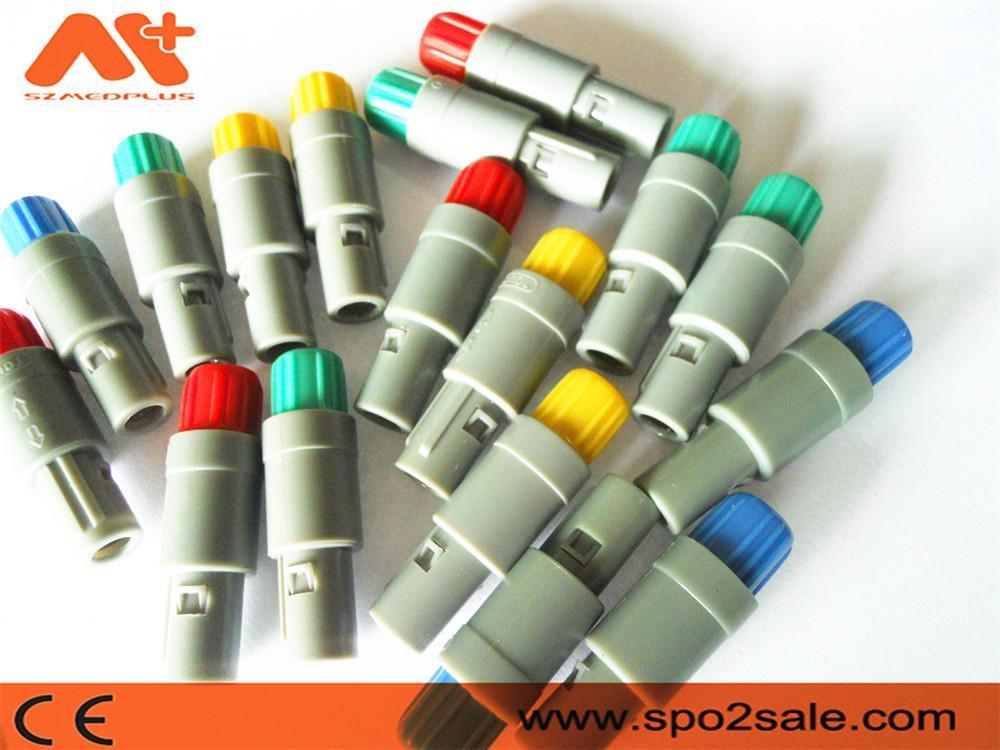 7针塑料头推拉自锁连接器医疗连接器双定位40度 6