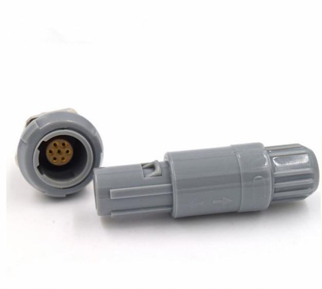 雙定位60度7針塑料頭推拉自鎖連接器 1