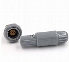 雙定位60度7針塑料頭推拉自鎖連接器