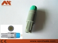 Plastic push-pull connector Compatible Lemo, 7pin80degree