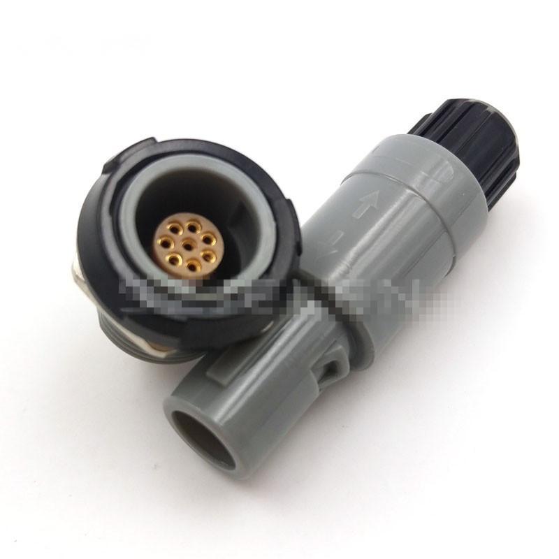 單定位8針塑料頭推拉自鎖連接器 1
