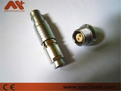 2針圓形電線插頭推拉式連接器兼容B系列FGG插頭