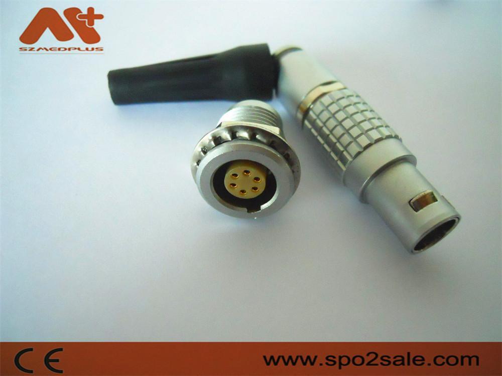 金属圆形推拉式连接器兼容FGG6针插头 1