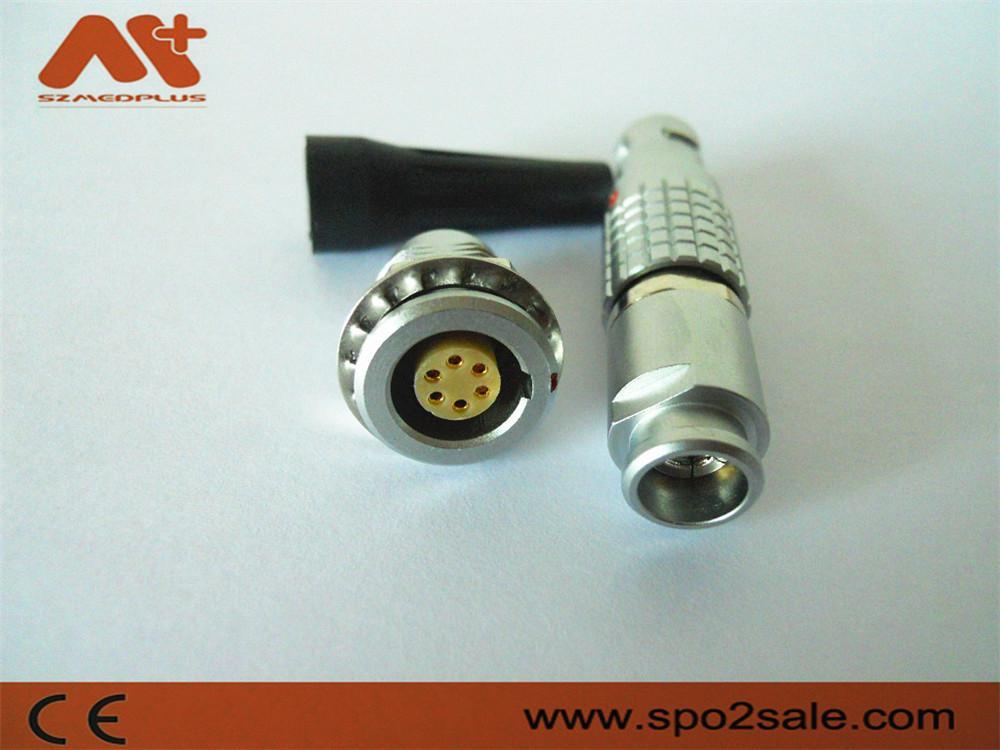 金属圆形推拉式连接器兼容FGG6针插头 2