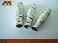 金属圆形推拉式连接器兼容FGG6针插头 3