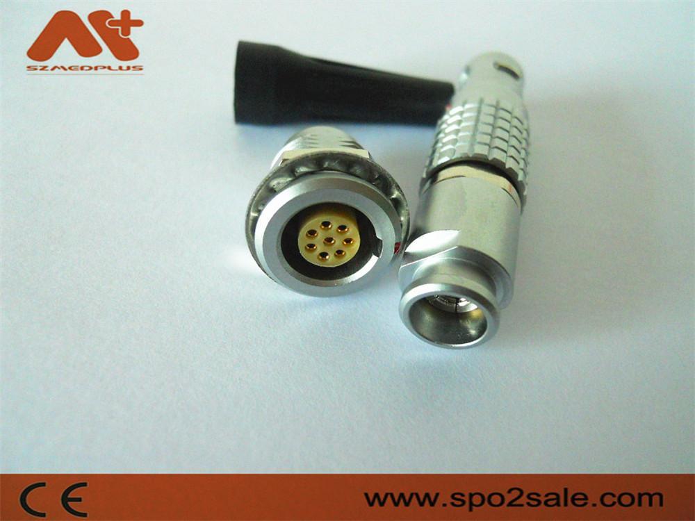 金属环形推拉式连接器兼容8针FGG插头 1