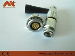 金属环形推拉式连接器兼容8针FGG插头