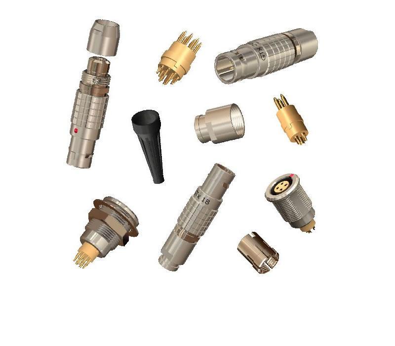 金属环形推拉式连接器兼容8针FGG插头 3