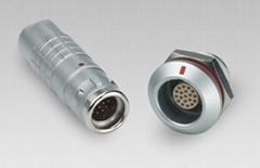 金属圆形推拉自锁连接器兼容K系列FGG插头