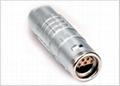 Metal circular push-pull connector compatible with Lemo K series FGG plug