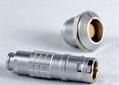 金屬圓形推拉自鎖連接器兼容K系列FGG插頭 3