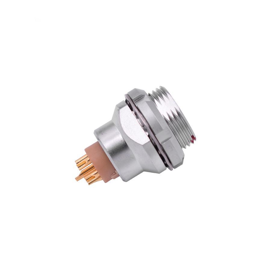 金屬推拉自鎖連接器兼容EEG插座 2