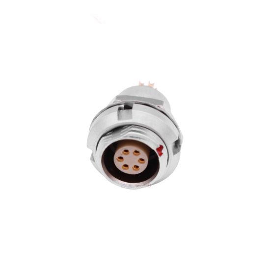 金屬推拉自鎖連接器兼容ECG插座 2