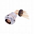 金屬推拉自鎖連接器兼容ECG插座 3