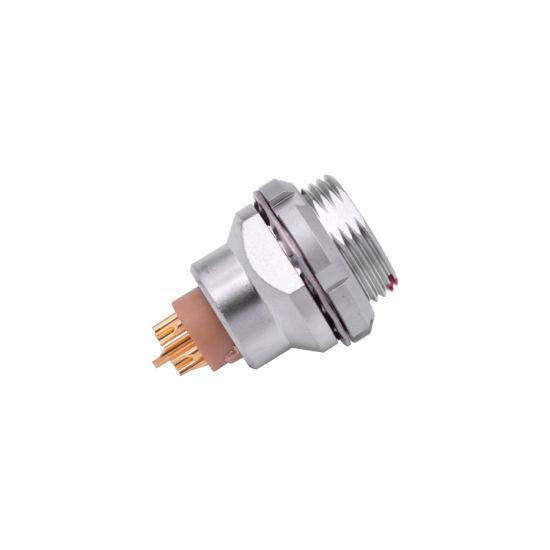 Metal push-pull self-locking connector Compatible EEG Female socket 2