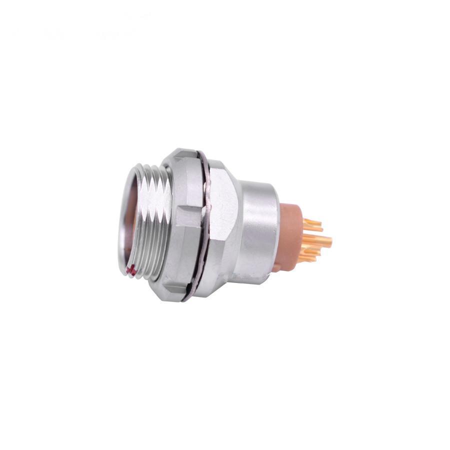 金属推拉自锁连接器母头兼容EEG插座 3