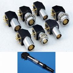 金属推拉自锁连接器母头兼容EPG插座