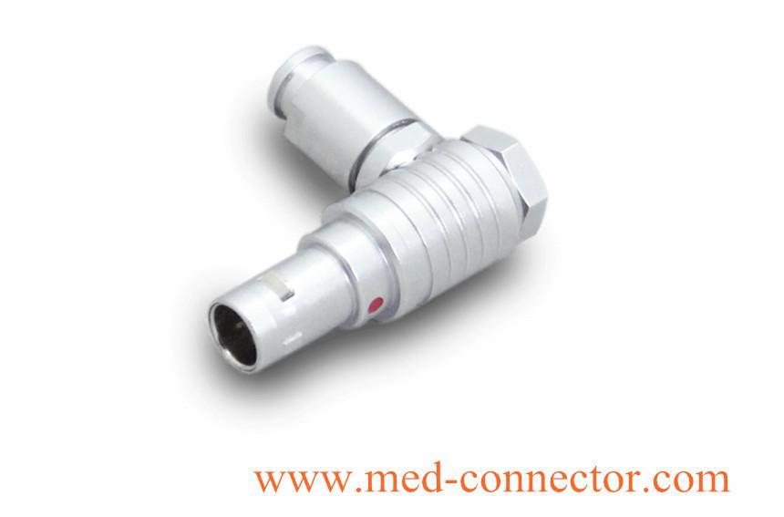 金屬彎頭推拉自鎖連接器兼容FHG插頭 1