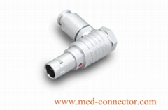 Metal elbow push-pull  connector compatible with FHG plug