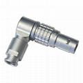 金屬彎頭推拉自鎖連接器兼容FSG插頭 3