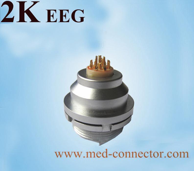 金屬推拉自鎖連接器兼容EEG插座 3