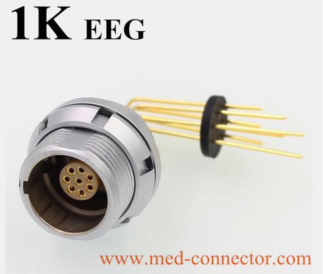 金屬推拉自鎖連接器兼容EEG插座 4