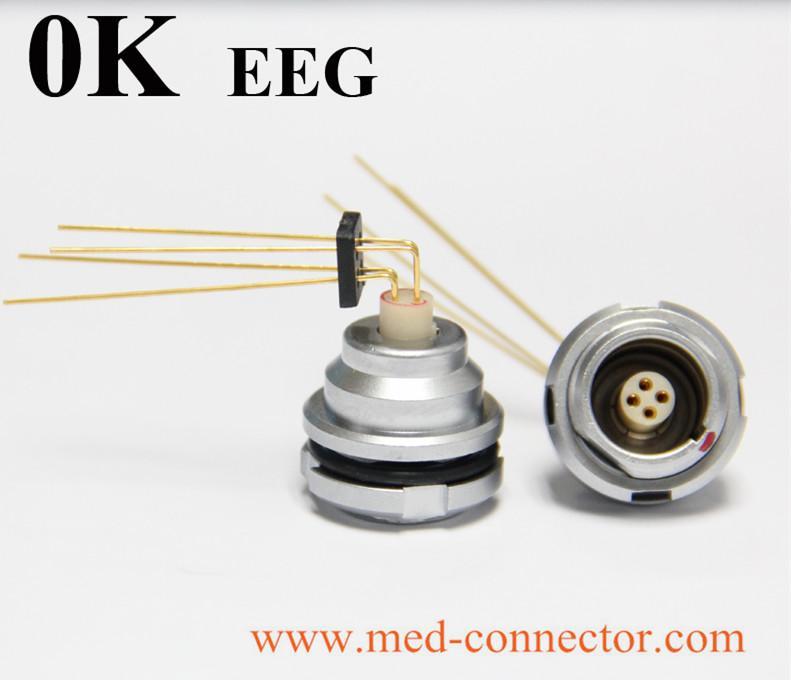 金屬推拉自鎖連接器兼容EEG插座 5