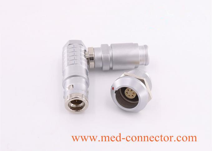 金属弯头推拉自锁连接器兼容FHG插头 1
