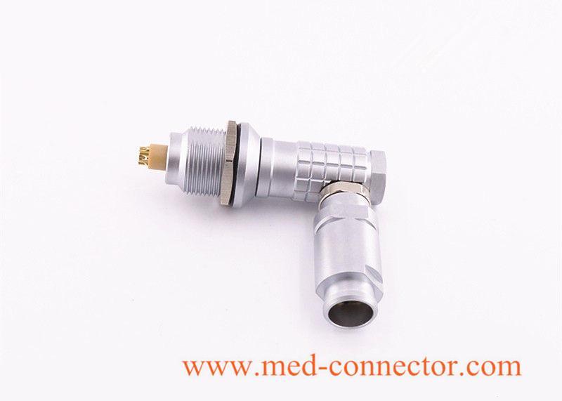 金属弯头推拉自锁连接器兼容FHG插头 2