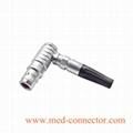 金属弯头推拉自锁连接器兼容雷莫K系列FHG插头