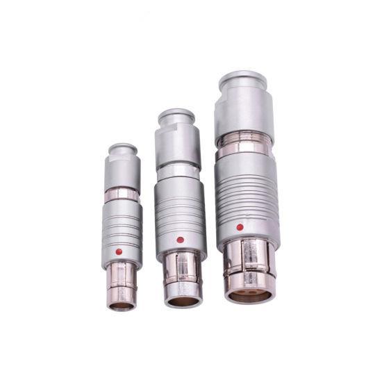 金屬推拉自鎖連接器兼容F系列FGG插頭 2