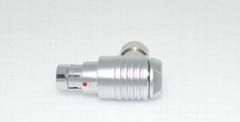 金属推拉自锁连接器兼容F系列弯头90°插头