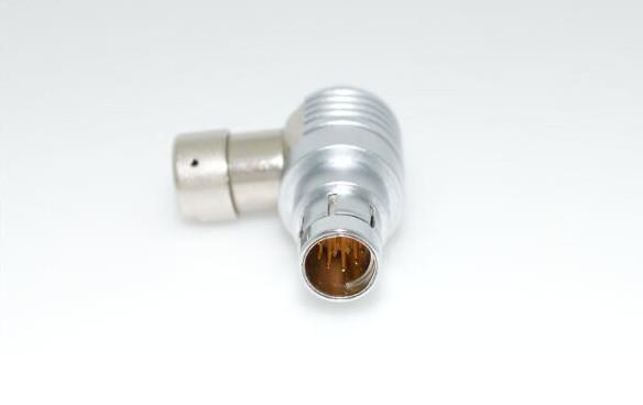 金属推拉自锁连接器兼容F系列弯头90°插头 4