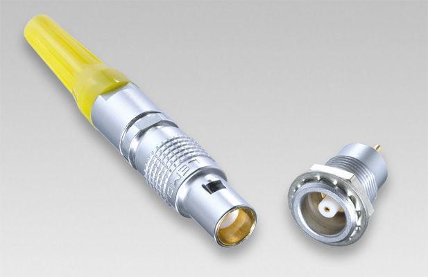 金属推拉自锁连接器直头同轴插头 2