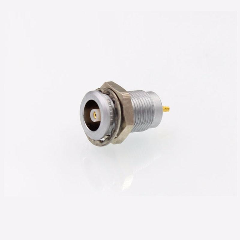 金属推拉自锁连接器同轴连接器兼容ERA插座 4