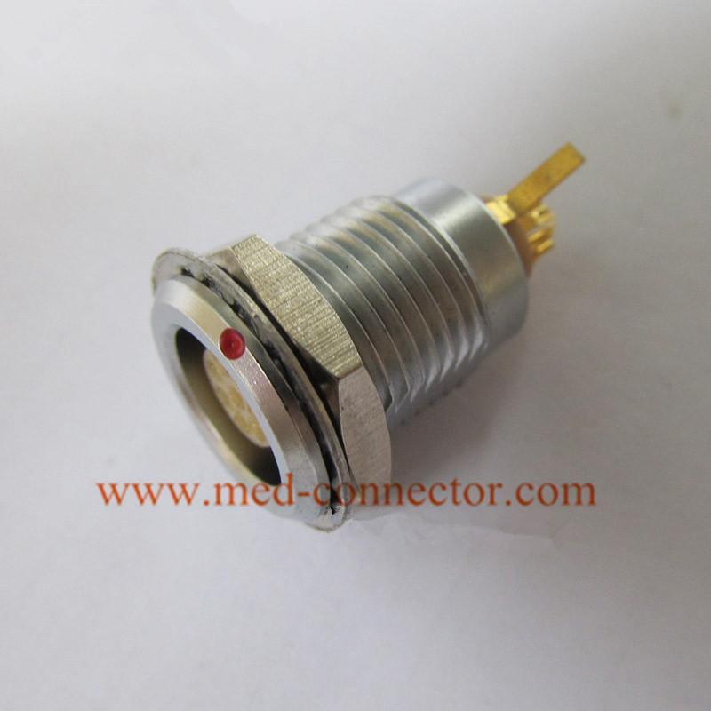 金属插座兼容ENG推拉自锁连接器 2