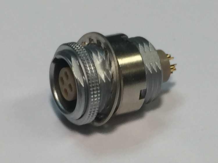 金屬插頭兼容ESG推拉自鎖連接器 1