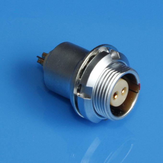 金屬插座兼容EFG推拉自鎖連接器 1
