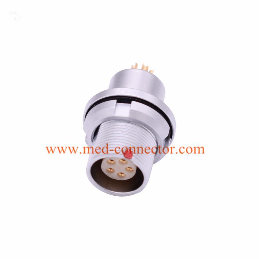 金属插头兼容HEG插座推拉自锁连接器 2