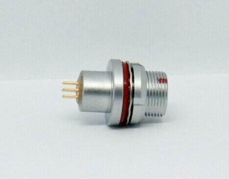 金屬插頭兼容HEG插座推拉自鎖連接器 3