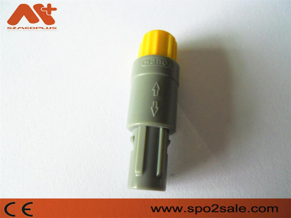 8针60度塑料头推拉自锁连接器兼容雷莫连接器