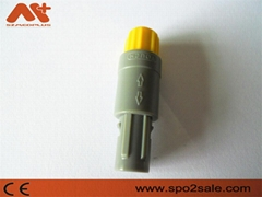 8針60度塑料頭推拉自鎖連接器兼容雷莫連接器