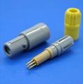 塑料頭7針推拉自鎖連接器醫療連