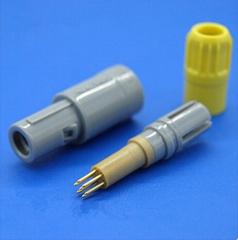 塑料头7针推拉自锁连接器医疗连接器
