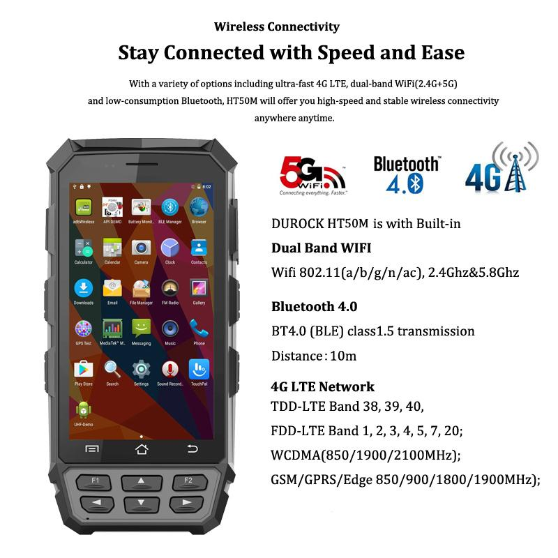 R   ed Handheld PDAs IP65 with 5 Inch Larger Screen 4G LTE R   ed Hand Terminals 3