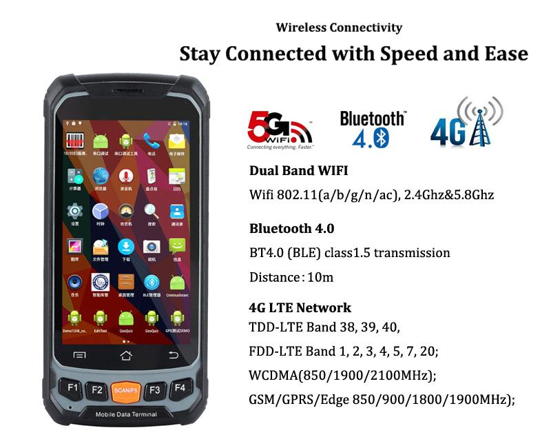 R   ed Handheld PDA with 2D Barcode Scanner RFID Wireless Industrial Android PDA 3