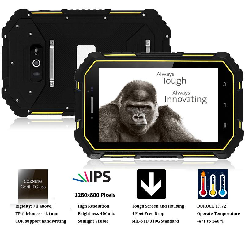 7 Inch Rugged Tablet Android 6.0 Quad Core Wifi Android NFC Rugged Tablet PC 3