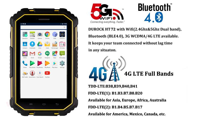 7 Inch Rugged Tablet Android 6.0 Quad Core Wifi Android NFC Rugged Tablet PC 5