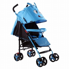 Colourful baby stroller for running with big wheels