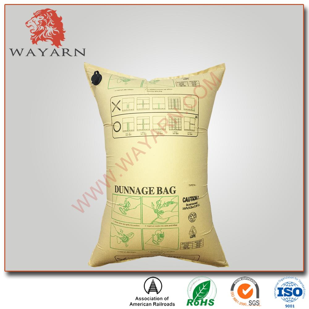 Manufacture Kraft paper inflatable air dunnage bag with SGS certification 1